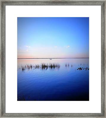 Sunset On Lake Washington 2 Framed Print