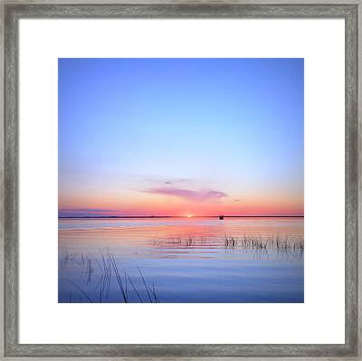 Sunset On Lake Washington Framed Print