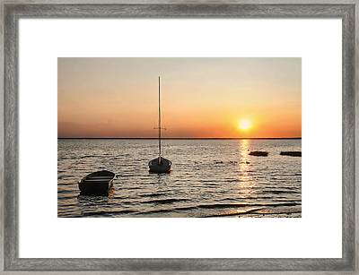 Sunset On Lbi Framed Print by Diana Angstadt
