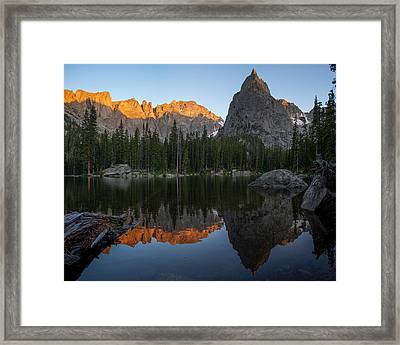 Sunset On Lone Eagle Peak Framed Print