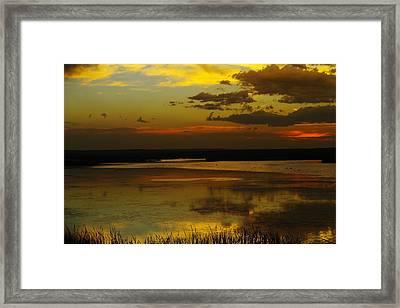 Sunset On Medicine Lake Framed Print by Jeff Swan