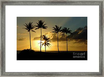Sunset On Molokai Hawaii Framed Print by Bob Christopher