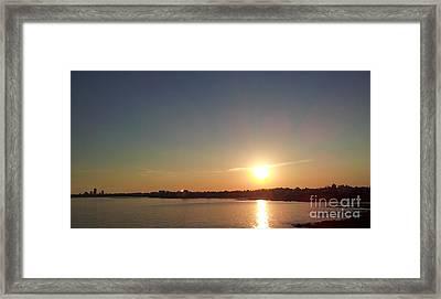 Sunset On Montevideo Framed Print