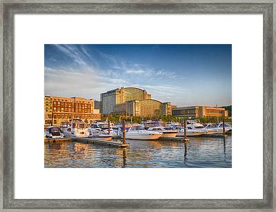 Sunset On National Harbor Framed Print