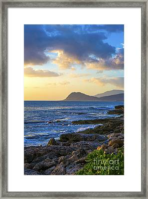 Sunset On Oahu Hawaii Framed Print