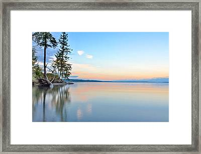 Sunset On Penrose Point Framed Print