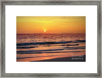 Sunset On Phiphi Island Framed Print