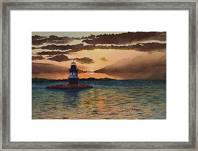 Sunset On Plum Gut Framed Print