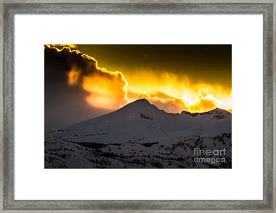 Sunset On Pyramid Framed Print by Mitch Shindelbower