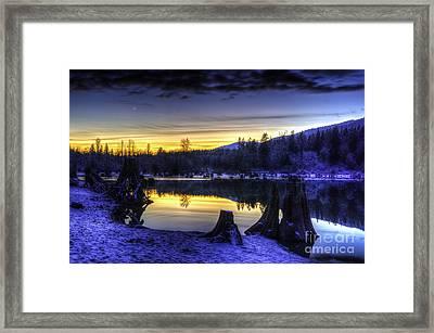 Sunset On Rattlesnake Lake Framed Print by Brian Xavier