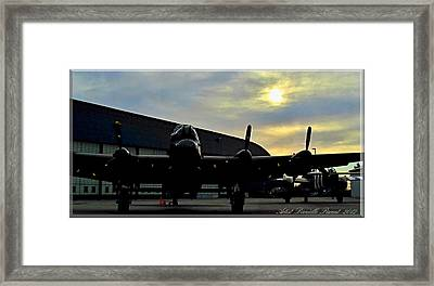 Sunset On Rememberance Day Framed Print by Danielle  Parent