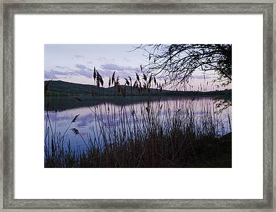 Sunset On Rockland Lake - New York Framed Print