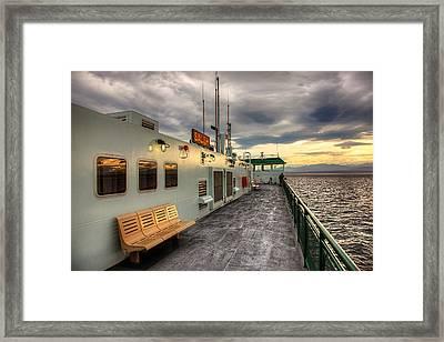 Sunset On Salish Framed Print
