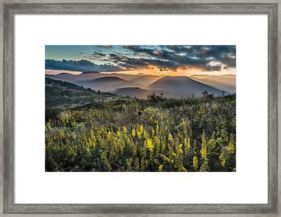 Sunset On Sam Knob Framed Print