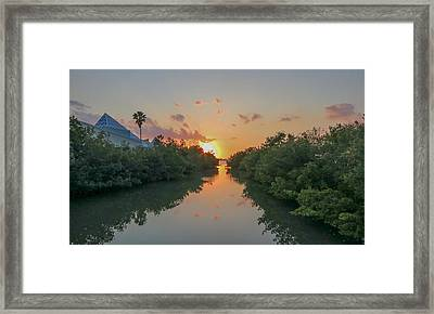 Sunset On Sarasota Bay Framed Print