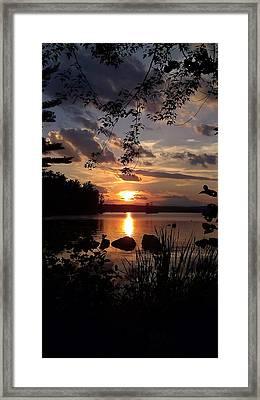 Sunset On Sebago 2 Framed Print