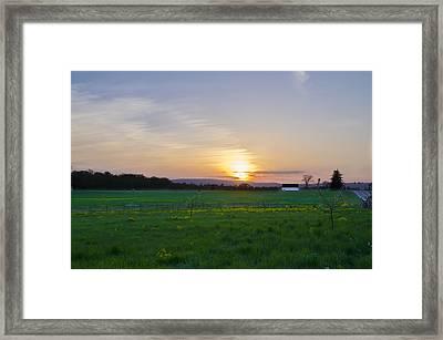 Sunset On Seminary Ridge - Gettysburg Framed Print by Bill Cannon