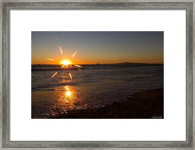 Sunset On Sunset Beach Framed Print by Heidi Smith