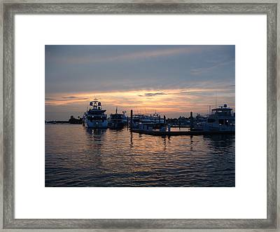 Sunset On Taxi Framed Print