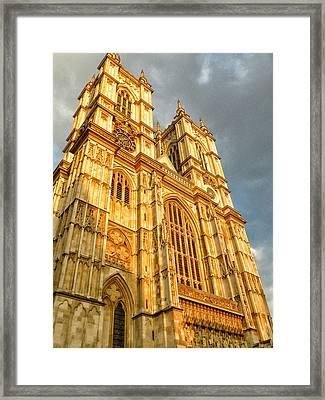 Sunset On The Abbey  Framed Print