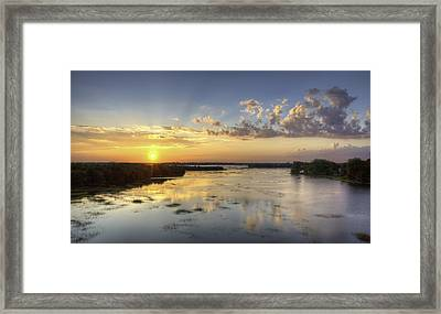Sunset On The Ashley Framed Print