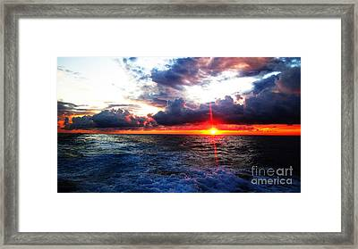 Sunset On The Atlantic Framed Print