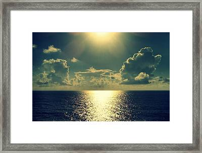 Sunset On The Atlantic Ocean Framed Print