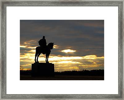 Sunset On The Battlefield Framed Print