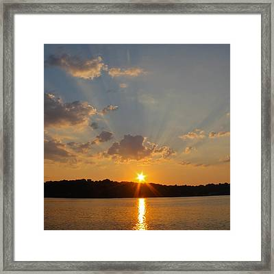 Sunset On The Bay  Framed Print by Justin Connor