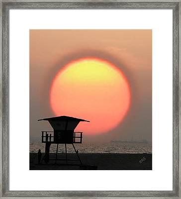 Sunset On The Beach Framed Print by Ben and Raisa Gertsberg