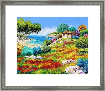 Sunset On The Beach Framed Print by Jean-Marc Janiaczyk