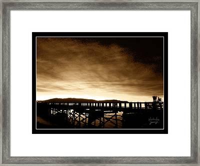 Sunset On The Boardwalk Framed Print
