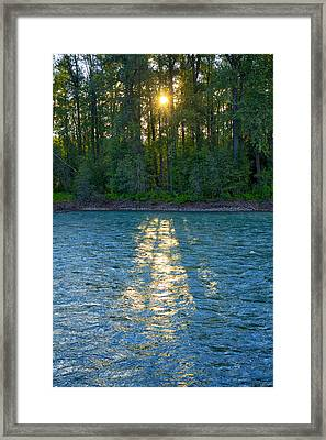 Sunset On The Bulkley Framed Print