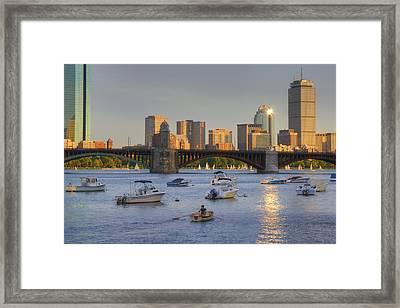 Sunset On The Charles Framed Print