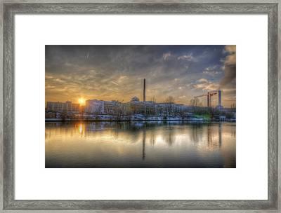 Sunset On The Esifabrik Framed Print