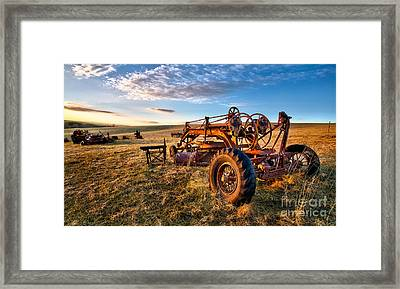 Sunset On The Farm In North Carolina I Framed Print by Dan Carmichael