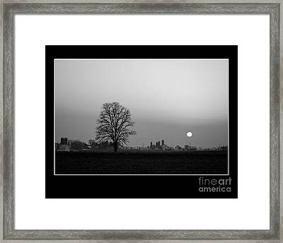Sunset On The Farm Framed Print