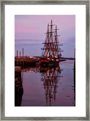 Sunset On The Friendship Of Salem Framed Print by Jeff Folger