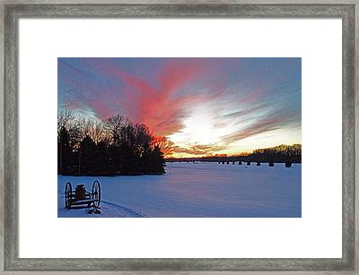 Sunset On The Golf Course Framed Print by Dan  Meylor