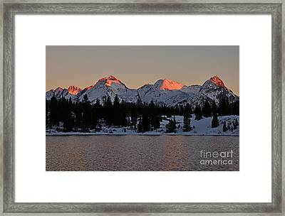 Sunset On The Grenadiers Framed Print