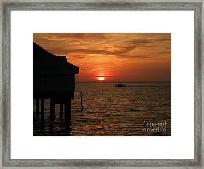 Sunset On The Gulf Of Mexico Framed Print