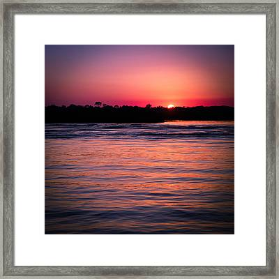 Sunset On The Halifax Framed Print