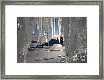 Sunset On The Icicles Framed Print
