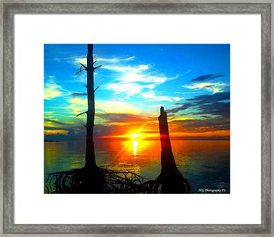 Sunset On The Island Framed Print by Marty Gayler
