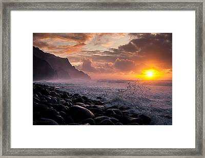 Sunset On The Kalalau Framed Print