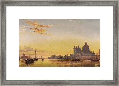 Sunset On The Lagoon Of Venice Framed Print