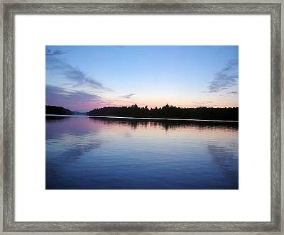 Sunset On The Lake 1 Framed Print by Gaetano Salerno