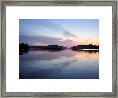 Sunset On The Lake 2 Framed Print by Gaetano Salerno
