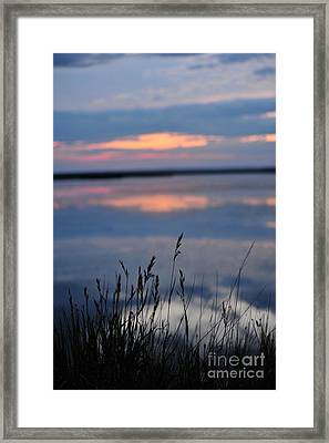 Sunset On The Lake Framed Print by Birches Photography