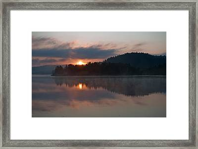 Framed Print featuring the photograph Sunset On The Lake by Marek Poplawski
